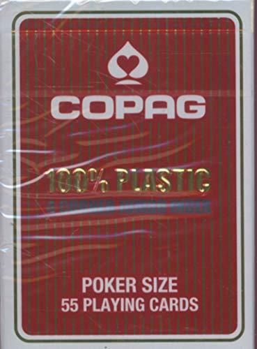 Copag 22564061 - Plastik Poker - Jumbo Face, rot