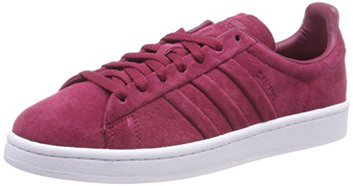 adidas Herren Campus Stitch and Turn Sneaker, Rot (Mystery Ruby/Mystery Ruby/Footwear White), 47 1/3 EU