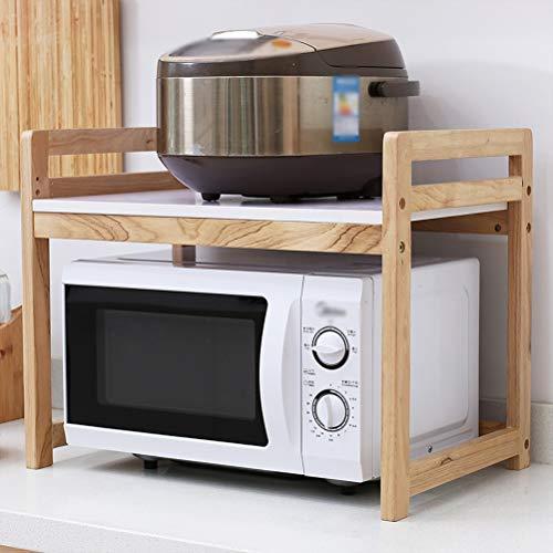 Kitchen furniture - Support à la mode multifonctionnel de support de four à micro-ondes de support à la mode de support en bois solide 2 WXP (Couleur : Blanc)