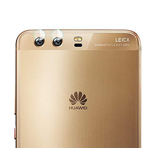 Genieforce® Premium 2-in-1 Kamera Objektiv HD+ Panzerfolie Schutzfolie für Huawei P10 - Kameralinse Schutz - 9H Ultra Hart - inkl. 3-in-1 Einbauset