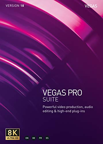 VEGAS Pro 18 Suite – Video Production, Audio Editing and High-End Plugins [PC Download]