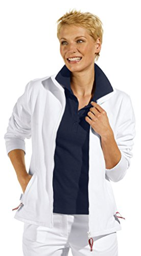clinicfashion 13014004 Sweat-Jacke für Damen, weiß, Mischgewebe, Größe XXL