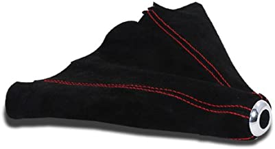 SPEC-D TUNING SKB-BLKSU-RS Spec-D Suede Shift Boot with Red Stitch