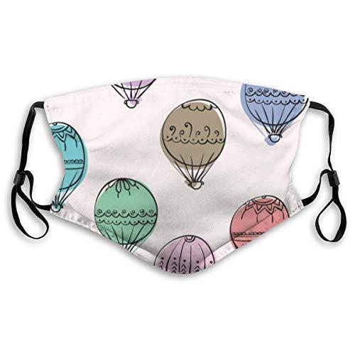 QYUESHANG Hand gezeichnete Doodle bunte Luftballons Umrisse,Staubdichter, waschbarer und wiederverwendbarer Filter mit Filter