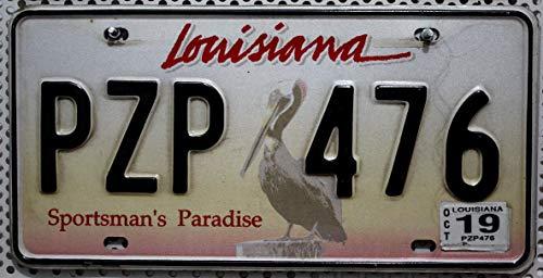 Louisiana Nummernschild , USA Auto-Kennzeichen mit Pelikan Motiv , US License Plate , Metall-Schild