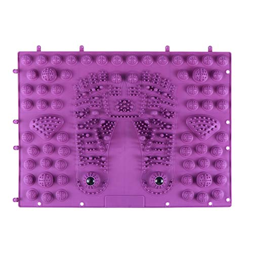 HEALLILY Fußmassagematte Fußreflexzonenmatte Akupressur Fußmatte Magnetfeldtherapie Reflexzonenmassage Matte für Fuß Entspannung (Lila)