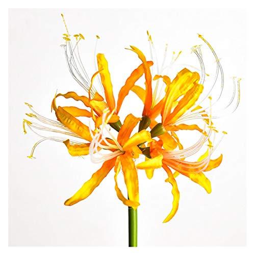 Hzdmfgs Künstliche Blumen 2020 Wohnkultur Künstliche Blume Lycoris Radiata Home Wohnzimmer Seidenblume Hochzeit Szene Layout Weihnachtsbaum Gefälschte Pflanzen (Color : Gold)