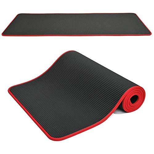Esterillas de yoga antideslizantes de 10 mm de espesor, resistentes a desgarros, NBR Fitness esteras deportivas, gimnasio, pilates con esterilla de yoga bolsa y correa