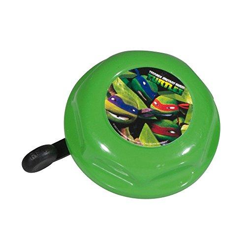 Bike Fashion Niños Turtles–Timbre para Bicicleta, Color Verde, 5x 5x 5cm
