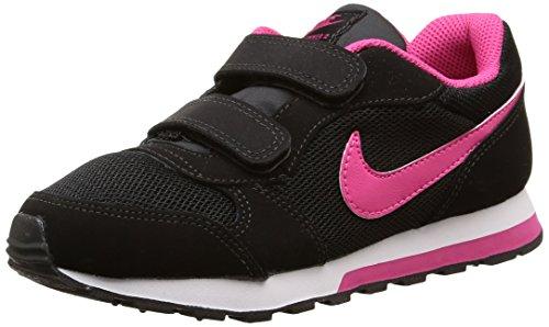 Nike MD Runner 2 (PSV) - Zapatillas para niña, Color Negro/Rosa/Blanco, Talla 34