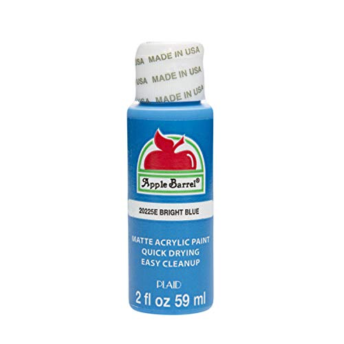 Apple Barrel 20225EX Acrylic Craft Paint, Matte Finish, Bright Blue, 2 fl oz