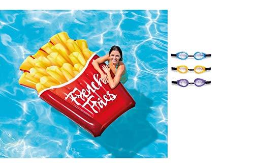 Matratze - aufblasbarer Pommes - Frites - Kinderbadeartikel / aufblasbares Reittier / aufblasbare Badetiere / aufblasbare Badeartikel für Kinder