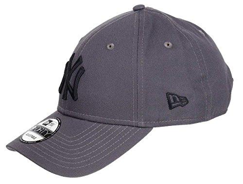 New Era Kappe Herren Damen New York Yankees Strapback gebogener Schirm hinten verstellbar Einheitsgröße, Yankees-Graphite, One-size-fitts-all
