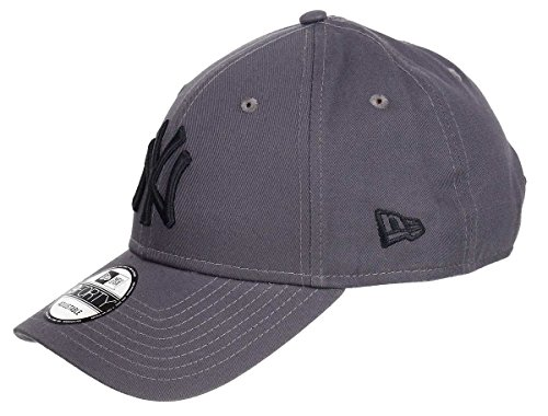 New Era Kappe Herren Damen New York Yankees Strapback gebogener Schirm hinten verstellbar Einheitsgröße, Yankees-Graphite, One-size-fitts-all