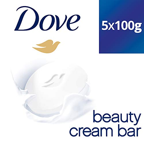 Dove Cream Beauty Bathing Bar With ¼ Moisturizing Cream To Give You Softer, Smoother Skin, 100 g (Buy 4 Get 1 Free)