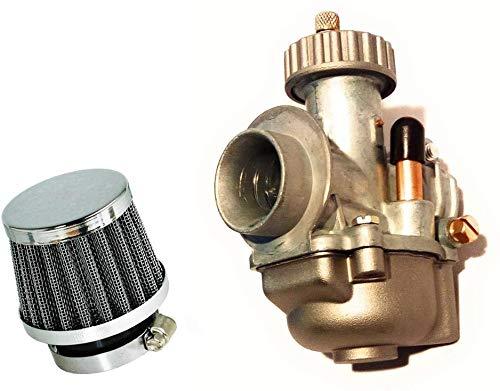 Set: 19mm Tuning Sport Carburateur Bing kwaliteit 32'er sport luchtfilter voor Hercules MK K - Zündapp GTS KS CS C 50 - Puch Maxi Monza - DKW (6-035)