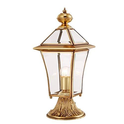 ZLMAY Luz de jardín - Pilar de la lámpara lámpara de Pared Villa lámpara al Aire Libre Impermeable de la lámpara del jardín Cuadrado Horizontal