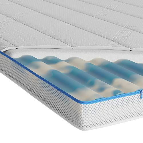 INNOCENT Gel & Visco 300gm2   7 cm de altura   Topper 2 en 1 90 x 200 cm   3D Air-Flow   Gelax & Viscoelástica Protector de colchón de 7 cm de altura   para colchones