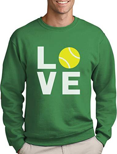 Green Turtle T-Shirts Love Tennis - Sportliches Geschenk für Tennisfans Sweatshirt Large Grün