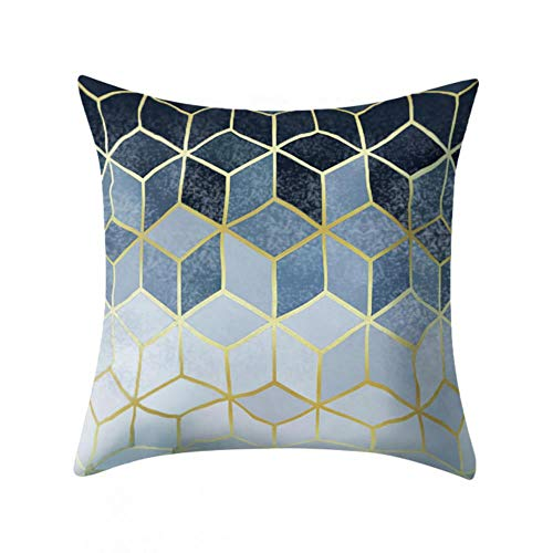 Funda de cojín geométrica, de poliéster, color blanco y negro, a rayas, diseño geométrico