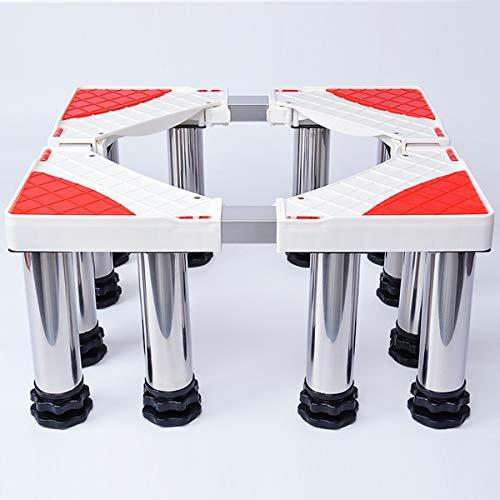 Mfnyp Machine à Laver Socle, Base de rondelles réglable, 4-12 Pieds de Support Verstellbarerfür sèche-Linge, Lave-Linge et Un réfrigérateur (Hauteur: 14-17Cm),Twelvesupportlegs