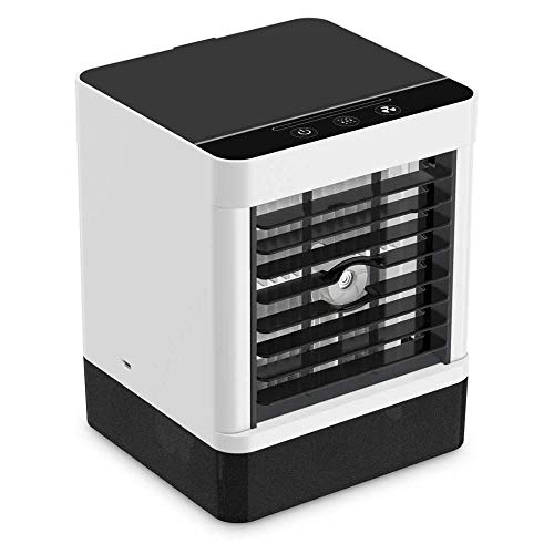 Lzhuiair Cooler, Portable Mobile Air Conditioner, 3 In 1 Evaporative Coolers, Humidifier, Purifier With Usb, 3 Speeds Desktop Cooling Fan For Office, Home, Dorm, Travel