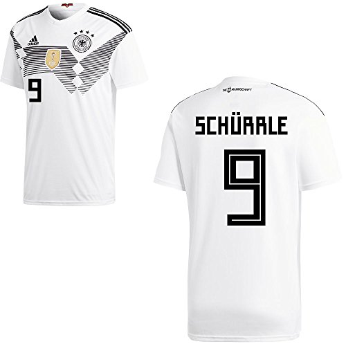 adidas DFB Deutschland Fußball Trikot Home Heimtrikot WM 2018 Herren Kinder mit Spieler Name Farbe Schürrle, Größe XL
