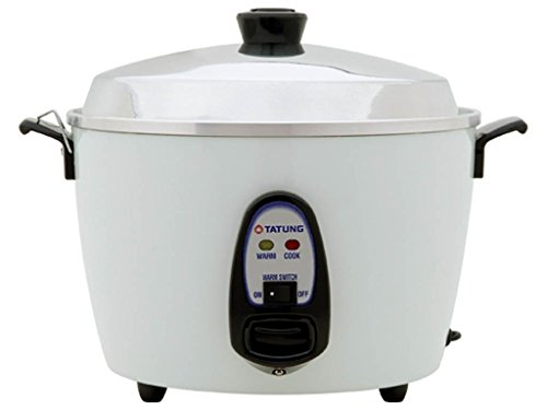 Tatung – TAC-10G (SF) – 10 Cup Rice Cooker – White Aluminum Cook Pot