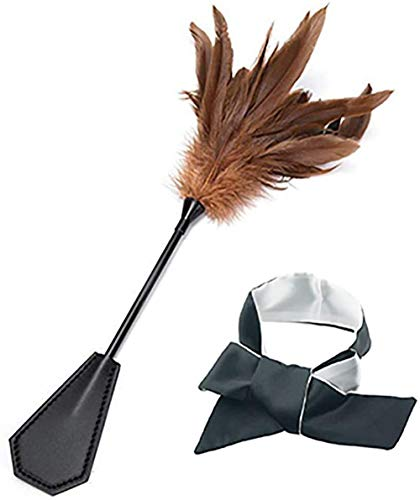 Toys Satin Blindfold Set Feather Teaser Tickler Feather (Women or Men£Accessories (Brown)