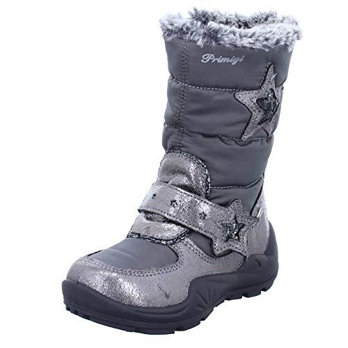 PRIMIGI Kinder Stiefel 4381011 Mädchen Winterstiefel mit Gore-Tex und Metallic-Look Grau (C.Fucil/GRIG.SC) Größe 25 EU