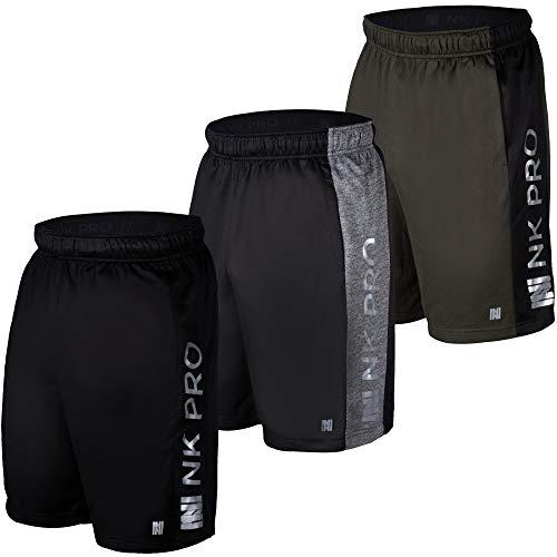 NK Pro 3PK Mens Athletic Shorts, Mens Mesh Shorts for Basketball, Running, Gym