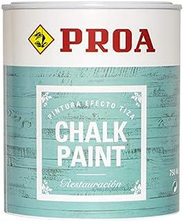 CHALK PAINT PINTURA PARA MUEBLES EFECTO TIZA PROA BLANCO ANTIGUO 750 ml