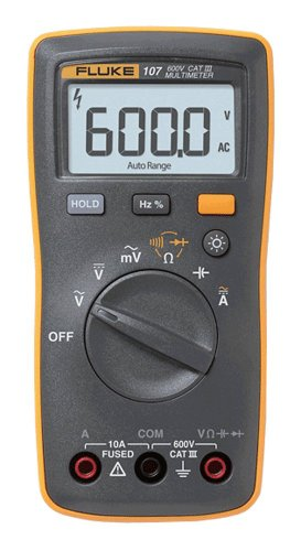 Fluke 107 AC/DC Current Handheld Digital Multimeter by Fluke, Gray