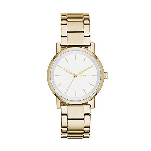 DKNY Damen Analog Quarz Smart Watch Armbanduhr mit Edelstahl Armband NY2343