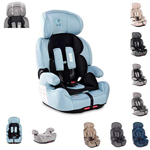 Lorelli, asiento infantil Iris Isofix grupo 1/2/3 (9-36kg) asiento booster, colores:azul claro