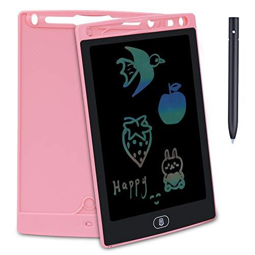Preisvergleich Produktbild FEALING Schreibtafel LCD Writing Tablet mit Schloss Bunte, mit Anti-Clearance Funktion und Stift, für Schreiben Malen Notizen Super alsGeschenk(Blau + Pink)