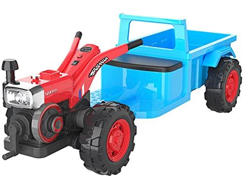ZHBD Paseo En Tractor con Remolque Desmontable, Vehículo Eléctrico con Batería De...