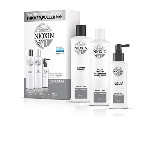 Trial kit Sistema 1 Shampoo 150ml, Condicionador 150ml e Leave-in 50ml, Nioxin, Pequeno