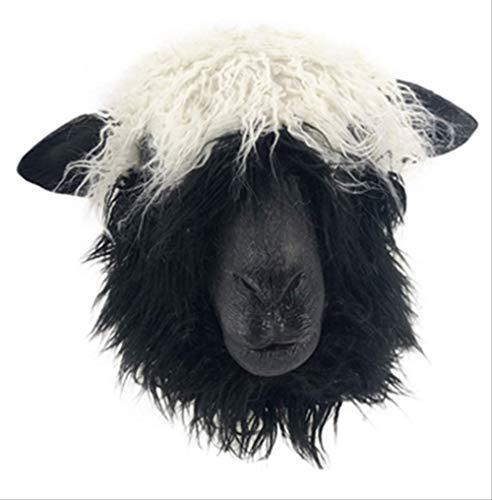 tytlmask schapen hoofd Latex masker, volwassen grootte dier masker, halloween carnaval Kerstmis Pasen kostuum decoratie speelgoed