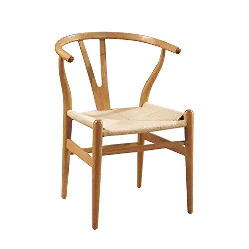 WZNING Stühle Sofa Sitzhocker Tisch Tragbarer Massivholz Gepolsterte Multifunktions Wishbone Seil, Beige, 55X56X78CM (Color : CWLBTLZ, Size : CWLBTLZ)