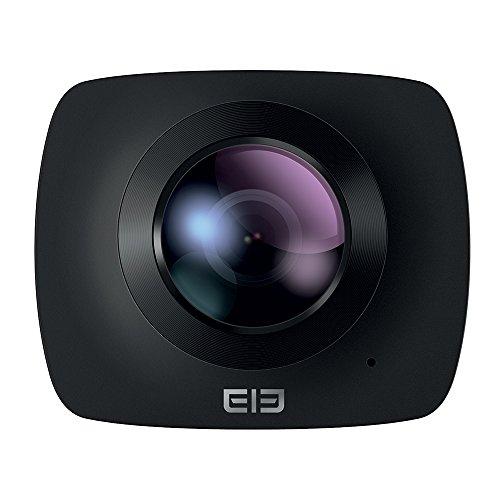elephoneelecam360Fotocamera di Azione di 360°, Nero