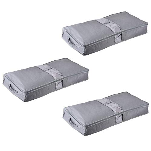 Kissen Bettzeug Kleidung 3er-Pack Steppdecken Oxford-Material Unterbett Aufbewahrungsbeutel mit verst/ärktem Griff und wiederverwendbarer f/ür Bettdecken VITCOCO Aufbewahrungstasche Decken