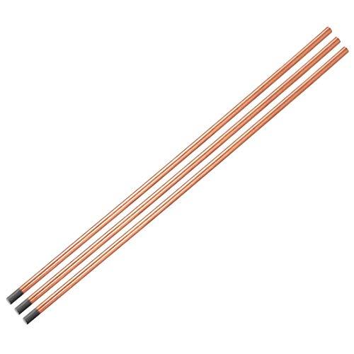 Cobre con revestimiento de carbono 4 x 350 mm – 3 varillas de escurrido de carbono, electrodos de cobre