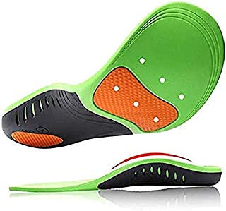 TopLike High Arch Support Insoles for Men and Women, Orthotic Shoes Insert with Cushion for Plantar Fasciitis Flat Feet He...