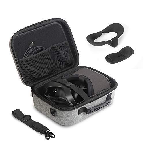 JSVER Tasche Für Oculus Quest,Tragetasche Hülle Für 3D VR Virtual Reality Headset/Oculus Quest Eva Hart VR Gaming Gamepad Fernbedienung Reisetasche-Grau