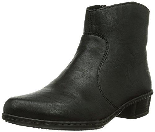 Rieker Y0761, DamenKurzschaft Stiefel, Schwarz (schwarz/00), 41 EU (7.5 Damen UK)