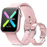 WWDOLL Smartwatch, 1.3 Pulgadas Reloj Inteligente Mujer, Reloj Deportivo con Pulsómetro, Cronómetro, Presión Arterial, Juego, Calculadora, Monitor de Sueño, IP67 Smart Watch para Android iOS
