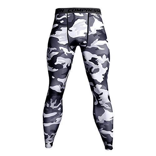 FRAUIT Herren Kompressionshose Camouflage Leggings Tights Lang Hosen für Sport, Training, Fitness, Fitness, Laufen, Radfahren, Yoga, Wandern, Basketball