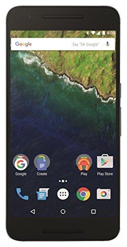 Google Nexus 6P Smartphone (5,7 Zoll (14,5 cm) Touch-Bildschirm, 64 GB interner Speicher, Android 6.0) graphit