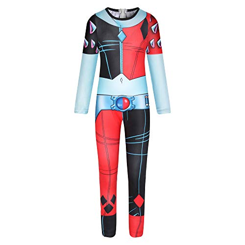 Trajes de Catsuit de Halloween Joker para niñas Harley Quinn Juego de Roles Mono Body Dress up